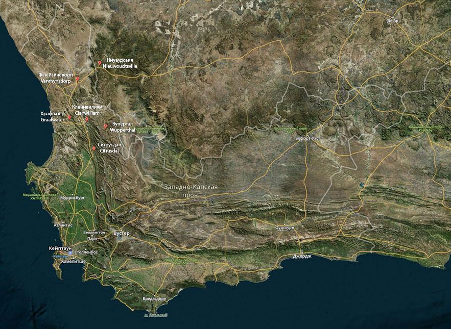 Карта: Основные производители ройбоса