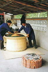 Бамбуковая корзина для сушки зеленого чая над углями