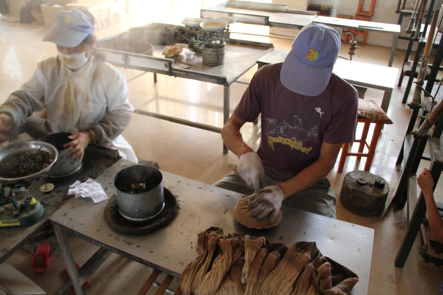 Производство чая на фабрике