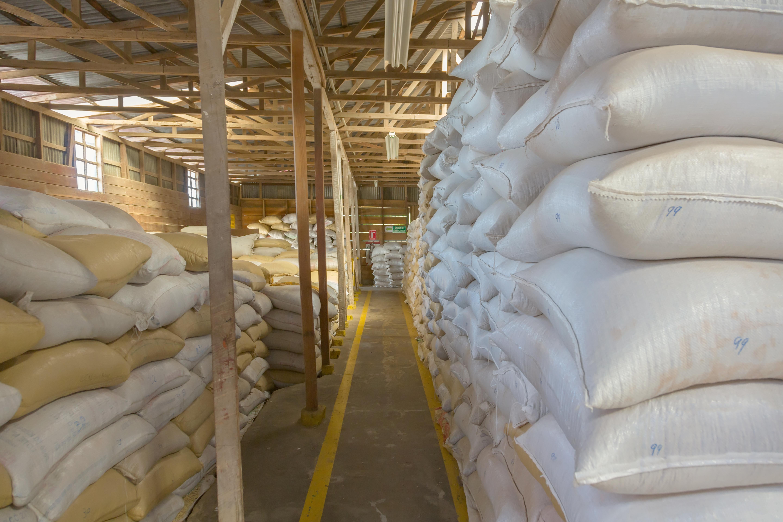 Хранение кофе перед процессом халлинга и экспорта