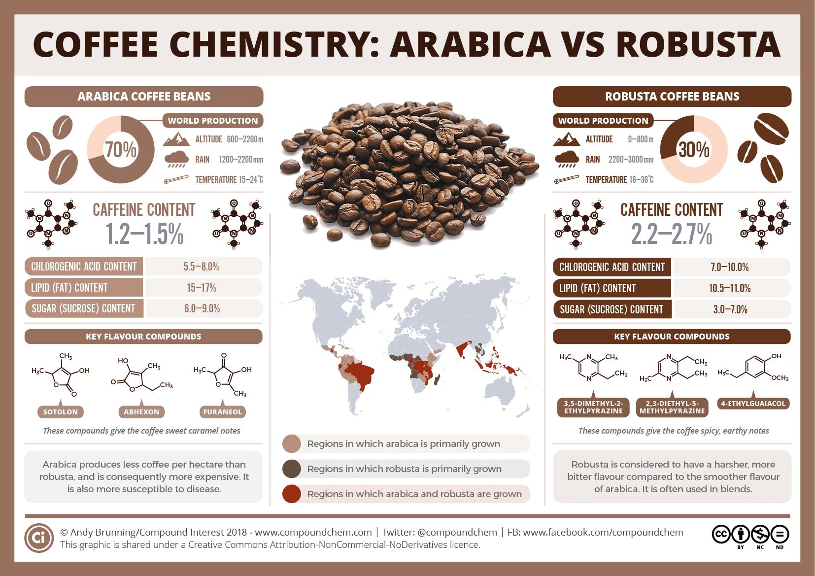 Различия арабики и робусты