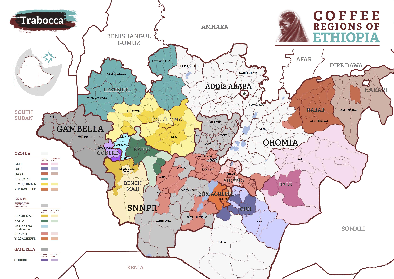 Кофейные регионы Эфиопии