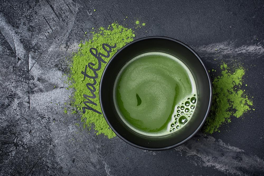 чашечка волшебной зеленой матчи
