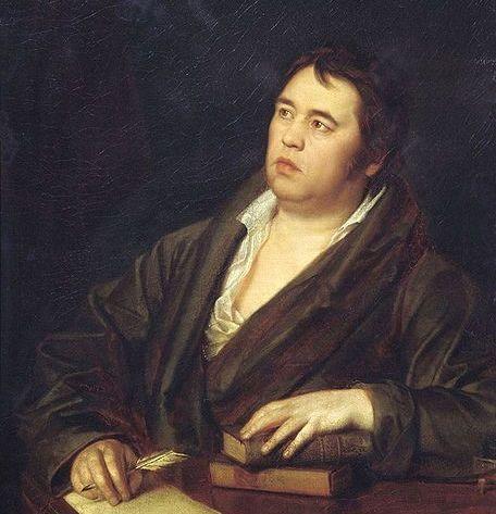 Художник Роман Максимович Волков написал Портрет баснописца И.А. Крылова в 1812 г.